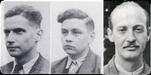 Het Jedburgh Team 12 Van links naar rechts Henk Brinkgreve, John en John Olmsted