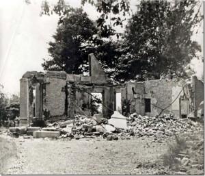 De overblijfselen van de villa